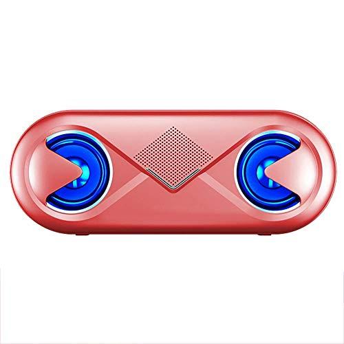 Portable Haut-Parleur Bluetooth 5.0 Mini Voiture BoîTe A Sons Avec Des LumièRes Clignotantes SuppléMentaire Basse Hi-Fi Subwoofer Deux Haut-Parleurs 2.0 Canaux 10 Heures De Lecture Pour La Maison Noir