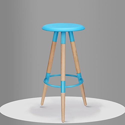 PLL massief houten barkruk barkruk barkruk hoge stoel eenvoudige mode stoel barkruk blauw