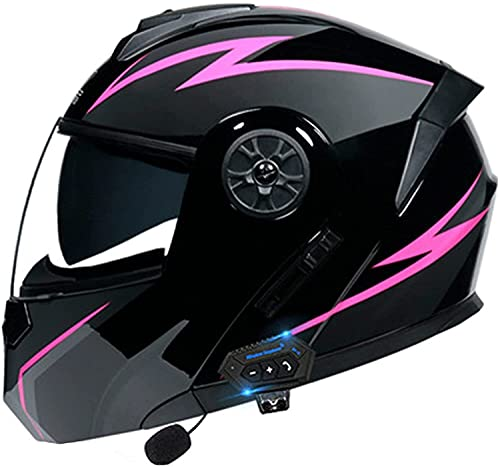 OOMEI Bluetooth Casco Moto,Casco Moto Modular ECE Homologado,Doble Visera Casco Moto Abatible,Unisexo para Motocicleta Bicicleta Scooter Cascos De Moto Modulares (Color : J, Size : M=57~58cm)