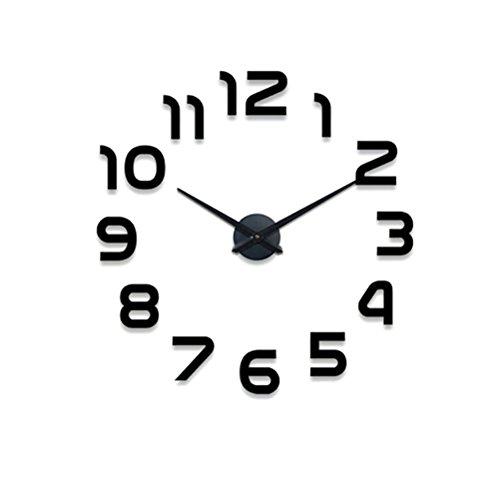 VORCOOL Gran Reloj de Pared de Bricolaje Moderno diseño Simple Relojes Grandes Personalidad Espejo de acrílico Reloj de Pared decoración del hogar