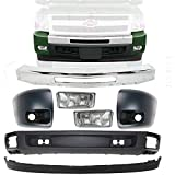 New Front Bumper Chrome Steel + Lower Valance &...