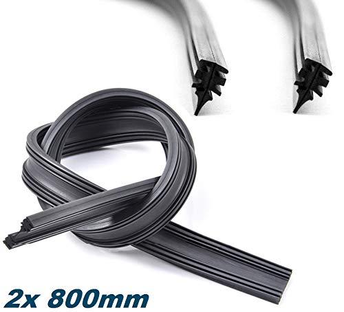 2 x Scheibenwischergummi Wischergummi Ersatz Gummi geeignet für BOSCH AEROTWIN Scheibenwischer INION (2x 800mm)
