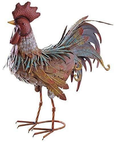 AUBRY GASPARD Coq décoratif en métal laqué