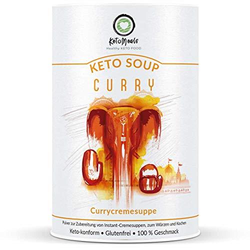 KetoMeals Keto Soup Curry für Ketogene Diät, Low Carb Ernährung & Fasten (450g)