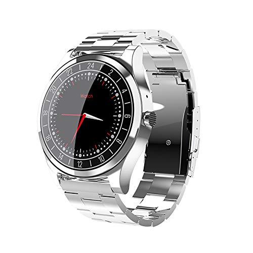 LRHD Hombres Business Bluetooth Smart Watch Reloj de pulsera Monitor de ritmo cardíaco Presión arterial Rastreador de fitness Smart Watch Fitness Tracker Sport Smart Bracelet Compatible con iOS, Andro