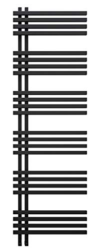 Terra - Radiador eléctrico para baño (1750 x 500 cm, con 4 temporizadores), color negro y gris