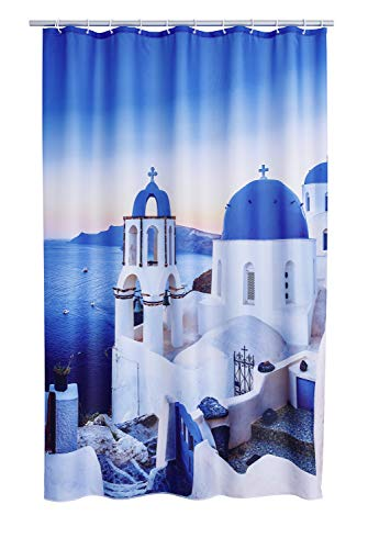 RIDDER 4001300 Duschvorhang Textil ca. 180 x 200 cm, Santorini