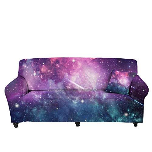 chaqlin - Funda protectora para sofá (3D, diseño de cielo estrellado, para regalo de dama, para sofá, sofá, funda de sofá, funda protectora elástica y antideslizante