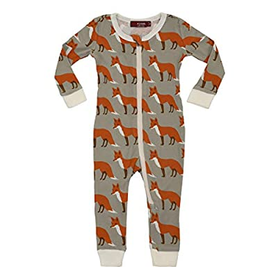 MilkBarn Organic Zipper Pajama Boys 18-24M