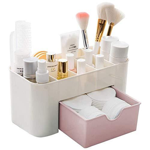 cosmetico dell' organizzatore di immagazzinaggio Organizer espositore da tavolo per cosmetici con cassetto Make Up dell' organizzatore di immagazzinaggio Cosmetici per Bagno Desktop