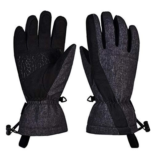 FHKBB Guantes de esquí Pantalla táctil Invierno Nieve Térmicos A Prueba de Viento Guantes Negros para Clima frío Esquí Snowboard & iuml; & frac14; & circ; s & iuml; & frac14; & permil;
