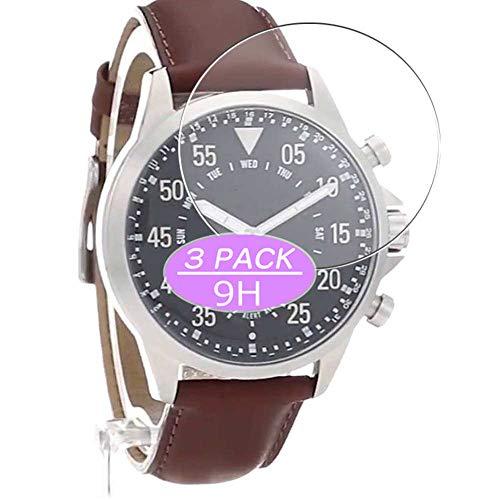 Vaxson Protector de pantalla de cristal templado, compatible con Michael Kors Access Hybrid 40 mm Smartwatch Hybrid Watch, protectores de película 9H