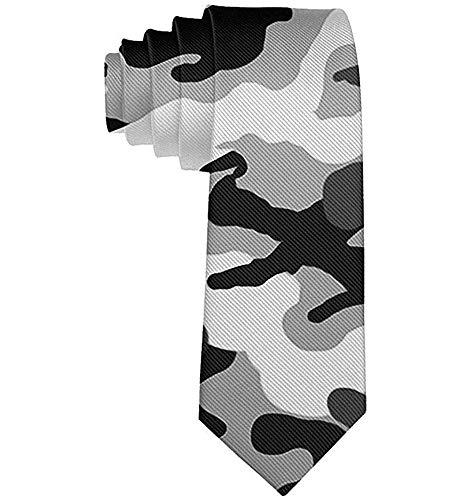 Corbata de moda para hombre Corbata de camuflaje del ejército Corbata de un tamaño