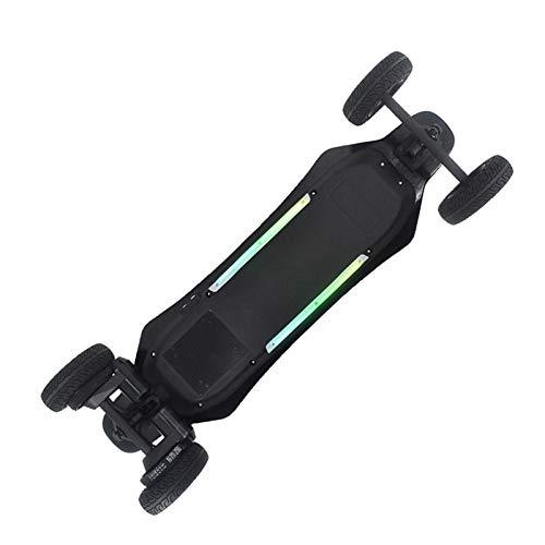 Elektro Longboard Offroad, LED E Longboard 40 kmh für Jungen Mädchen, Dual-Motor, Elektro Longboard 40 Km/h Reichweite 20 Km, E Skateboard für Erwachsene Teenager