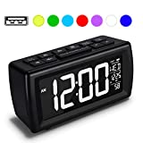 Best Clock Radio With Presets - AZUTTA Digital Alarm Clock Radio with 7-Color Digit Review
