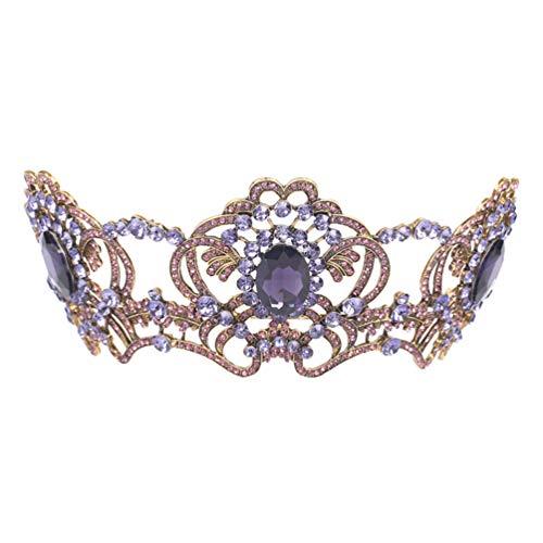 Lurrose 1 piezas nupcial diadema pedrería diadema accesorios de vestido de novia...