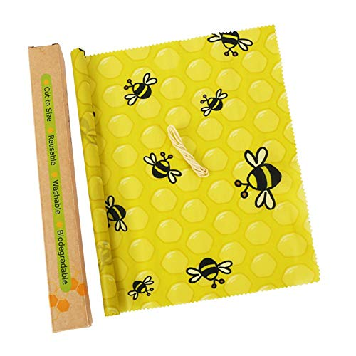 Riosupply - Envoltura de cera de abejas de algodón orgánico, para alimentos de cera de abejas, para almacenar alimentos en la cocina para queso, frutas, verduras, pan, urdimbre de cera de abejas