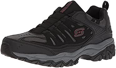 Skechers Sport Men's Afterburn Extra Wide Fit Wonted Loafer,black/charcoal,14 4E US