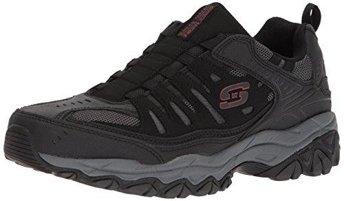 Skechers Sport Men's Afterburn M. Fit Wonted Loafer,black/charcoal,9.5 M US