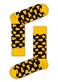Happy Socks, Colorful Premium Cotton Food Themed Socks for Men and Women, Cheese, Yellow, 10-13