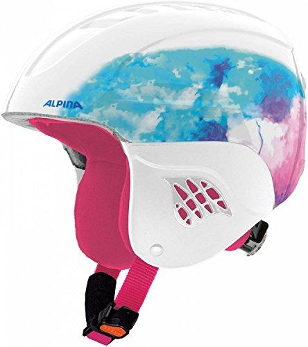 Alpina Sports Carat Casque de Ski Unisexe Blanc Taille 51-55