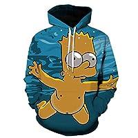 Men/Women black Hoodie 3D Fashion Print Simpson Sweatshirt Long Sleeve autumn and winter Hoodies Cartoon anime Mens clothing