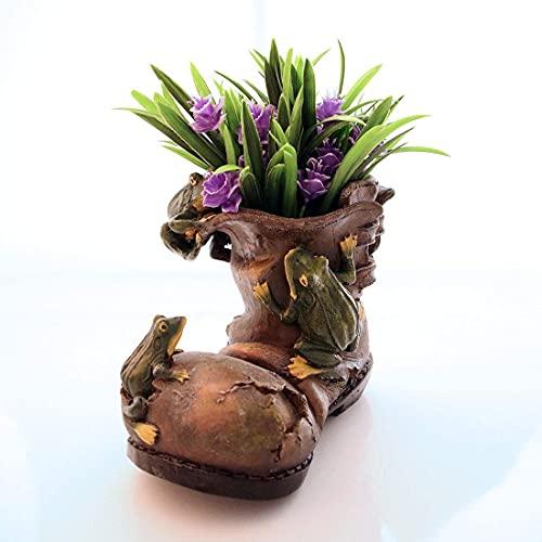 Macetas para macetas de Flores con Botas Viejas de Ranas Grandes