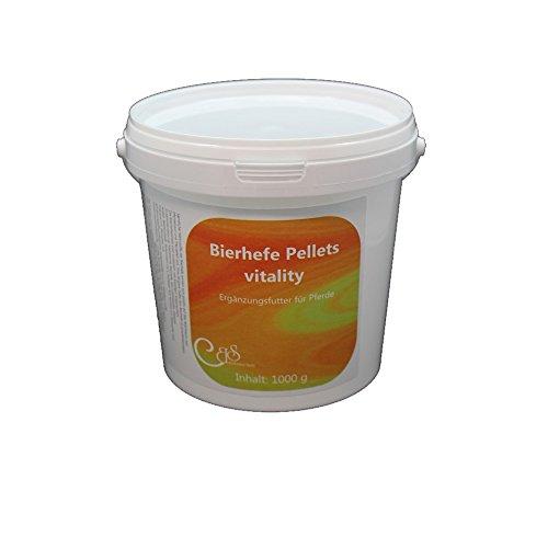 Barbara Seitz Levadura de cerveza Pellets Vitality 1000 g, con guijarro, para piel de caballo y caballo, vitamina B, complemento para caballos