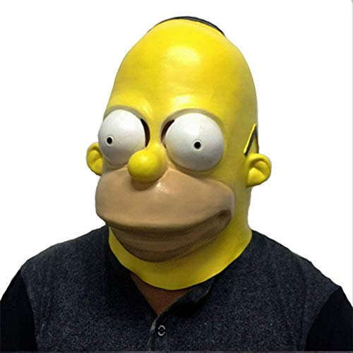 ZhuYiCheng Filmcharaktere Die Simpsons Masken, Simpsons Halloween Maskerade, Latex Helm Requisiten