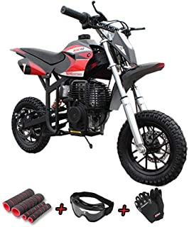 X-Pro 40cc Kids Dirt Bike Pit Bike Youth Dirt Bikes Gas Power Bike Off Road Ride-on Bike with Gloves, Goggle and Handgrip