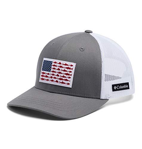 Columbia Kids' Little Boys' Snap Back Hat, Titanium/Fish Flag, One Size
