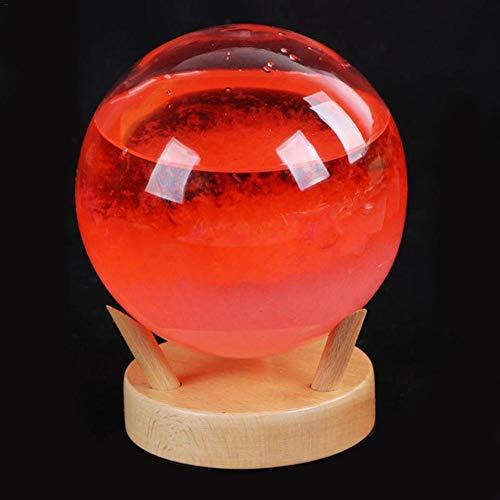 YakeHome Storm Glass Weather Predictor Desktopa con Estilo Predictor de Clima Innovador con Base de Madera Estación meteorológica pequeña para Oficina en casa