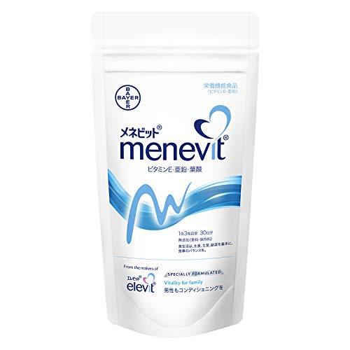 【公式】メネビット Menevit 90粒×1袋/30日分(亜鉛 ビタミンE 葉酸 )バイエル薬品