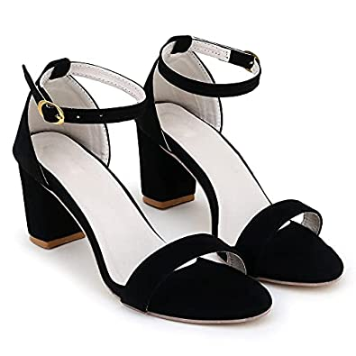 SHOFIEE Women Fashion Block Heel Sandals