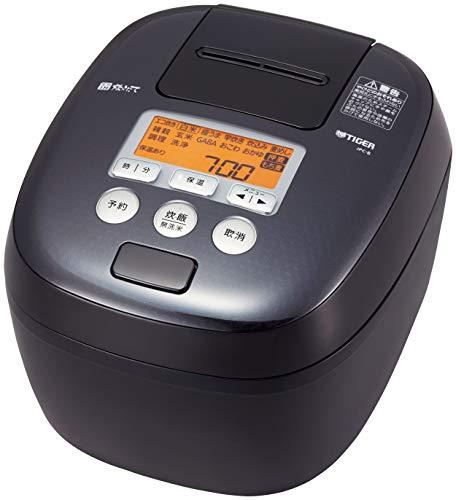 タイガー魔法瓶(TIGER) 炊飯器 5.5合 圧力IH 麦飯専用コース付き 炊きたて ブラック JPC-B101-K