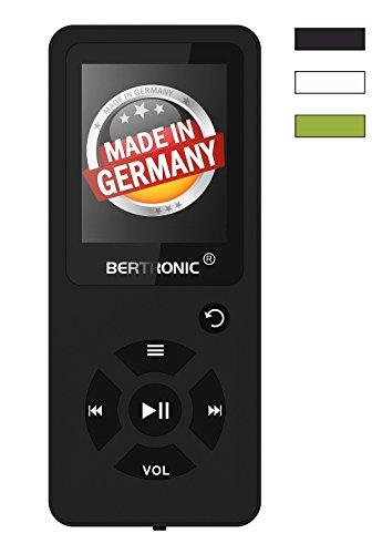 BERTRONIC Made in Germany BC03 Royal MP3-Player Bis 100 Stunden Wiedergabe Radio | Portabler Player mit Lautsprecher | Audio-Player für Sport mit Micro SD-Kartenslot