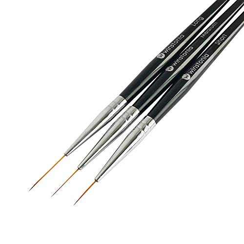 Winstonia Striping Nail Art Brushes for Long Lines, Details, Fine...