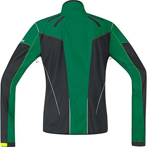 GORE BIKE WEAR Men's Protective Mountain Jacket Windproof, WINDSTOPPER Active Shell, AS Cross Fusion 2.0 JWAFUS, Varsity Green/Black Size:S