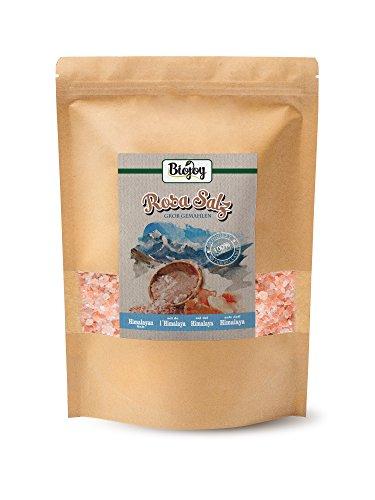 Biojoy Cristales de Sal Rosa del Himalaya, sal cristalina 2-5mm para molino...