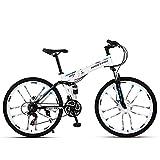 Plegable Bicicleta De MontañA, Bikes, Doble Freno Disco, Cuadro 26', 21 Velocidades, Bicicleta De Ciudad , Bicicleta De Trekking Unisex Para Adultos, Bicicleta De Carretera, Bicicleta Todoterreno