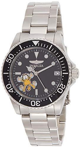 Invicta 24865 Character - Garfield Damen Uhr Edelstahl Automatik schwarzen Zifferblat