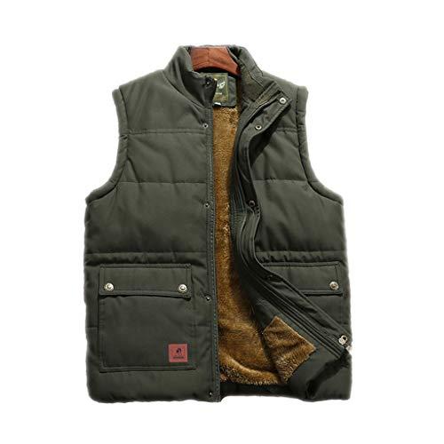 HLD Onderaan en katoenen vest for mannen lente en de herfst vader jas met fleece verdikking midden en ouderdom warm vest for mannen vest met vis for mannen vest Gilets (Color : C, Size : XXL)