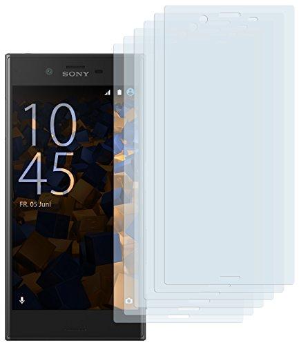 mumbi Schutzfolie kompatibel mit Sony Xperia X Compact Folie klar, Bildschirmschutzfolie (6x)