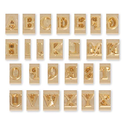 Longan Craft Leather Stamp Letters, Brass Stamping Flexible Alphabet Mold, Stamping Tools for Hot Foil Stamping Machine (26pcs/6mm)