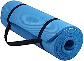 BLOODYRIPPA 15/10mm Thick Multipurpose Yoga Mat, NBR Extra Thick Exercise & Fitness Mat for All Types of Yoga, Plates,...