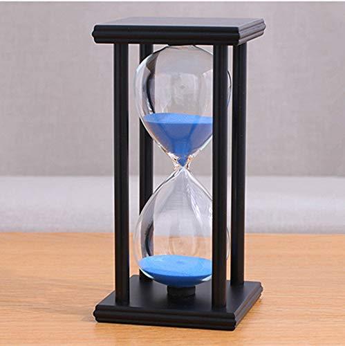Arena Reloj zandloper van hout, 60 minuten, 20,5 x 10 x 10 cm, kersttijd, verjaardagscadeau Black Blue Sand