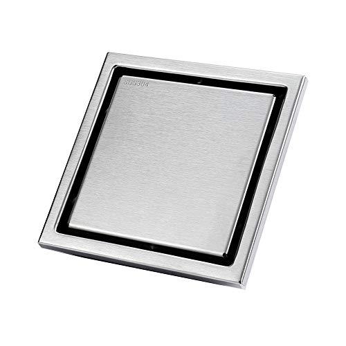TYJKL Drenaje de Piso Cuadrado extraíble Baño de Acero Inoxidable Balcón Desodorante e Insecto Resistente a los Dos tamaños de Drenaje de Piso Oculto con Buena función de Drenaje