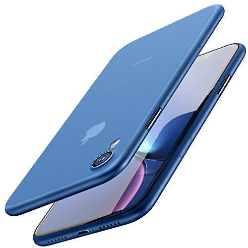TOZO for iPhone XR Case 6.1 Inch (2018) Hard Cover [0.35mm] Worlds Thinnest Protect Bumper for iPhone XR [ Semi-Transparent ] Lightweight [Matte Finish Blue]