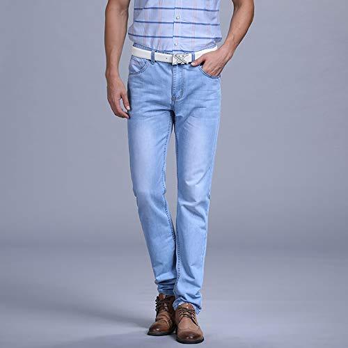 ShSnnwrl Cómodo y Suave Vaqueros para Jeans Pantalones Pantalones Vaqueros Delgados De Moda para Hombre, Pantalones Vaqueros Casu