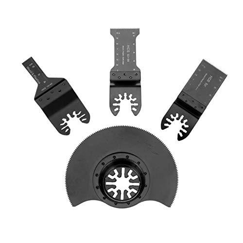 Accesorios para herramientas 4pcs / set Hoja de sierra de múltiples moldores Oscilando Hoja de sierra circular para herramientas eléctricas Renovator para Fein Multimaster Kits de corte de madera para